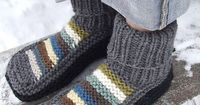 Slippers #knit #free pattern