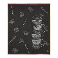 Sucrerie Cachou Gray Tea Towels by Yves Delorme $100.00
