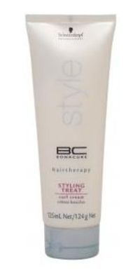 BC Bonacure BC Styling Treat Curl Cream 125ml Amino acid Glycine deeply penetrates the hair to protect the inner hair structure and provide natural elasticity. Silk-Polymer-Complex works on the outer surface of the hair providing control texture http://ww...