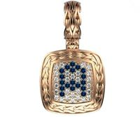 Personalized pendant Letter A Pendant Pave Pendant Sapphires and Diamonds Filigree Pendant Art Nouveau Rose gold Anniversary Gift $1017.75