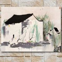 Modern Chinese Oil Painting By Wu Guanzhong Reproduction