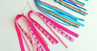Make your own bike streamers using ribbons and a golf tee
