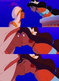 Favorite Disney kiss: Aladdin and Jasmine's