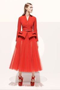 Christian Dior. One of favourite Resort 2013 collections for sure. I love the playful ballerina feel that the tulle skirt brings to the otherwise serious look.