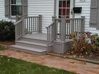 Image result for uncovered front steps
