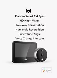 Xiaomo 720P 166° LCD Display Video Doorbell Security Cat Eye Camera For Smart Home Alarm System Work With Mijia App From Xiaomi Eco-system