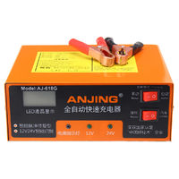12/24V 10A Pulse Repair Battery Charger With LCD Lead Acid Battery Intelligent Charger For Car Motorcycle