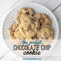 I've seen lots of chocolate chip cookie recipes floating around blogland, all of them claiming to be the best. Some call for melted butter or browned butter whi