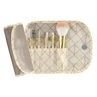 Jacki Design Vintage Allure 5 Pc Make Up Brush Set And Bag, Cream @The Lavender Lilac