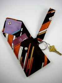Neckties don't just make decorations for men's suits and shirts. You can also use neckties to make a unique, stylish purse. You can clean out a closet or visit
