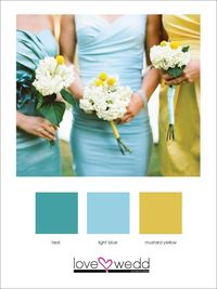 Image detail for -... this color palette of teal light blue and mustard yellow the colors