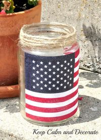 Easy Patriotic Luminaries :: Hometalk Check into reycling in Muncie, IN. This lady says she has no glass recycling.