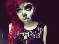 half skull makeup?