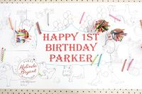 Circus Themed Party Coloring Page Table Runner Personalized Decor First Birthday Custom Decorations Animal Tiger Elephant Craft Activity $25.88