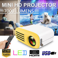 7000 Lumens 1080P Mini LED HD Projector Home Cinema Theater Video Multimedia USB