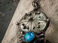 Pendant with natural stone - Lera's dream. arrow compass, Compas for you mind, Compass jewelry, compass necklace $78.00