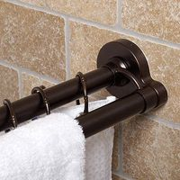 Oil Rubbed Twist Tight® Premium 44-Inch to 72-Inch Double Rod in Bronze - BedBathandBeyond.com Want!