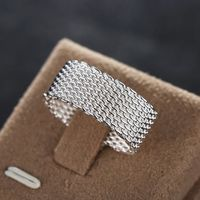 Sterling Silver Plated Woven Mesh Ring $52.00 Free Shipping