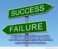 Failure and success quote photo