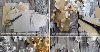 Make this gorgeous paper chandelier from paper and twine. This DIY project is so simple that is would be a great decoration for a party, brunch or shower as wel