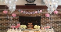 Pink and Grey Tea Party Themed Baby Shower