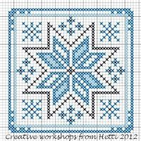Creative Workshops from Hetti: Winter in the Netherlands - ornament cross stitch chart