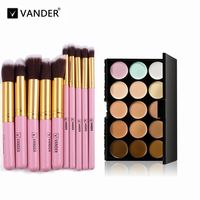 Price: $22.64   Product: High Quality Makeup Set 15 Colors Contour Face Cream Concealer Palette With Brushes   Visit our online store https://ladiesgents.ca