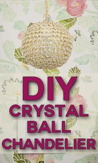 Check this out! You can make this DIY crystal chandelier in only about an hour!