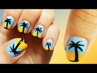 Oasis Beach Nail Art ~ love these nails get pampered aboard #PrincessCruises #Travel in luxury and style