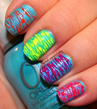 toothpick + 2 nail colors = fun nail design ***CLICK FOR VIDEO TUTORIAL***