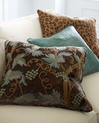 Brown & Teal Accent Pillows