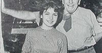 """Walt Disney with Annette Funicello, stand out star of the original """"Mickey Mouse Club."""""""