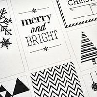 Festive and FREE holiday gift tag printable.