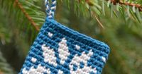Crochet Tapestry Ornament - Chart � 4U // hf