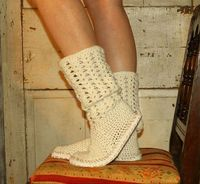Crochet Boots Pattern PdfBoho StyleBOOTS FOR the by OnWillowLane, $5.00