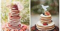 postcards and pretties: {good eats} unfrosted wedding cakes