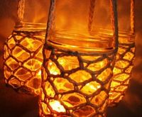 Hanging candle holder luminary crochet | Candles | Popular Crafts | Craft Juice