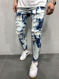 MENS STREET STYLE WASHED JEANS 4634 $84.00