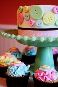 Cake for cute as a button party