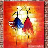 Hand Painted Oil Painting Ballet On Canvas