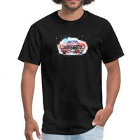 Car yoga Stag - Fitted Cotton/Poly T-Shirt by Next Level