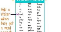 printable Kindergarten sight words