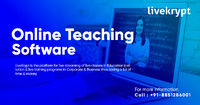 Livekrypt is the best online teaching software with a wide variety of advanced features which is very different from other educational software available in the market. This Online Teaching Software is available at the best price. Know More Call: +91-885-...