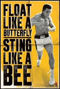 Muhammad Ali-Float Like a Butterfly, Sports Poster Print, 24 by 36-Inch