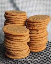 Peanut Butter Sugar Cookies-the best of a sugar cookie and a peanut butter cookie come together in these soft thin cookies. There's just something about a sugar