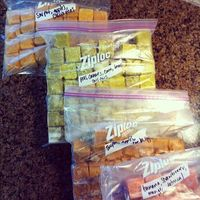 Save twenty five bucks a week on baby food. I made my son's baby food and this is pretty much what I did. Used regular ice cube trays and my standard blender. But this post is also great to remind me of some fruits and veggies not to miss for variety-...