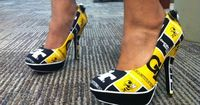Newly-minted alumna Jasmine Lawrence (2012 Miss Georgia Tech) wore custom-made shoes for graduation. #swag
