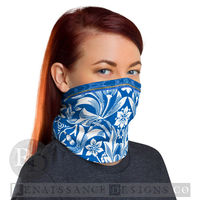 Neck Gaiter Face Mask Unisex Neck Gaiter Multi-functional Face Floral Bandana Face Mask Headband Balaclava Beanie Boho Chic Women Face Cover $17.95