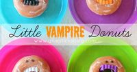 Little Vampire Donuts...cute idea for a Halloween party treat!