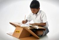 Cardboard desk also transforms into a backpack by New Bombay based non-profit organization, Aarambh.